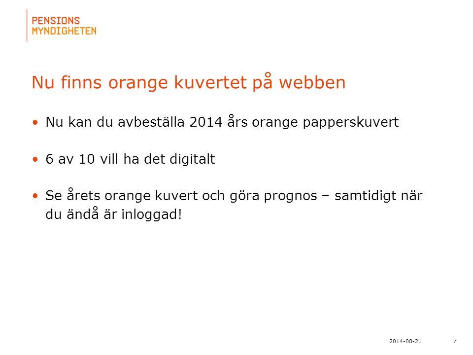 För att uppdatera sidfotstexten, gå till menyn: Visa/Sidhuvud och sidfot... 18 2014-08-21