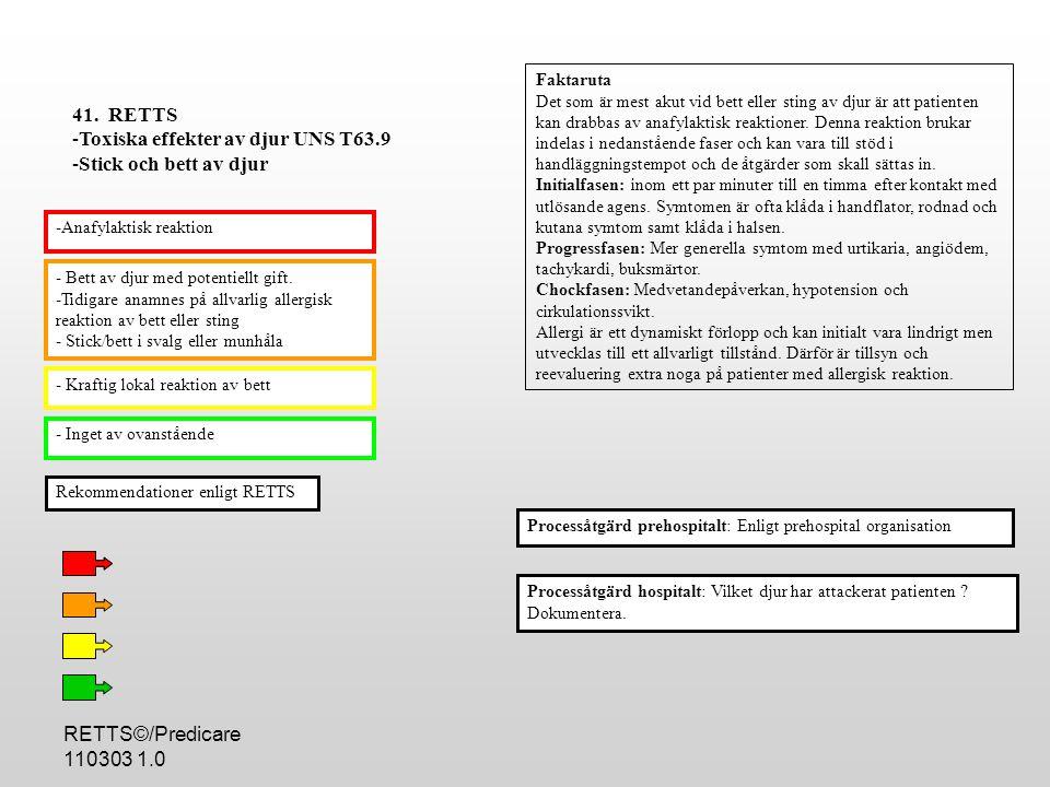 RETTS©/Predicare 110303 1.0 - Bett av djur med potentiellt gift.
