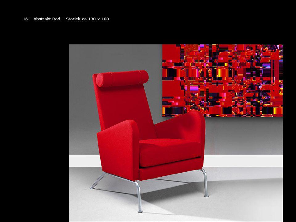 16 – Abstrakt Röd – Storlek ca 130 x 100