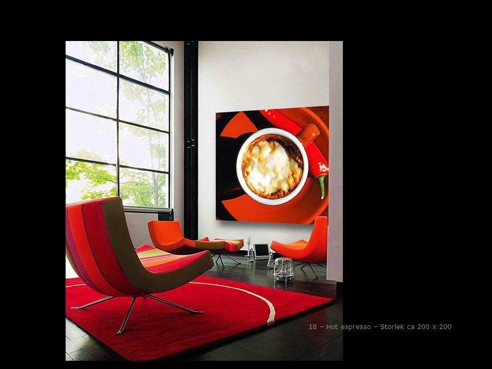 18 – Hot espresso – Storlek ca 200 x 200