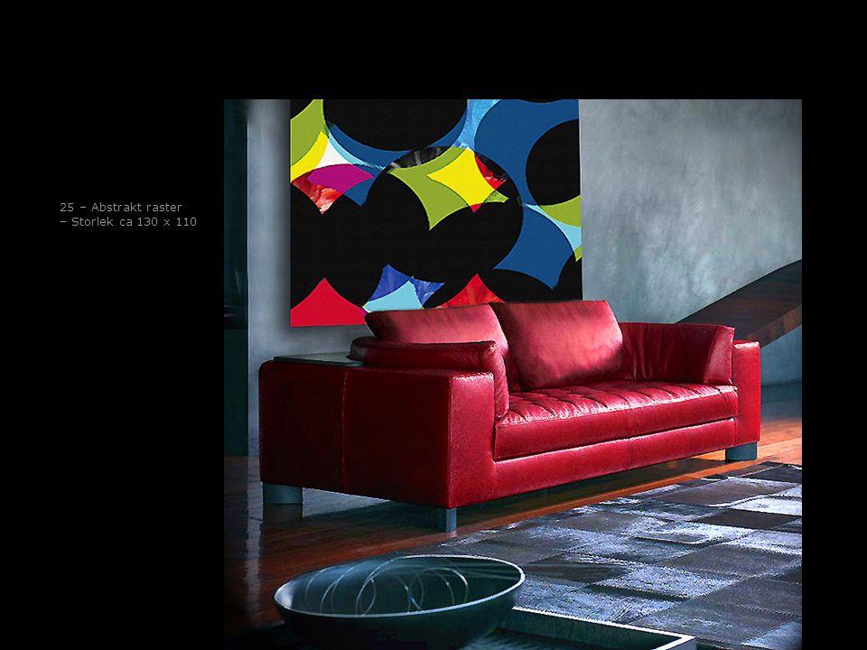 25 – Abstrakt raster – Storlek ca 130 x 110