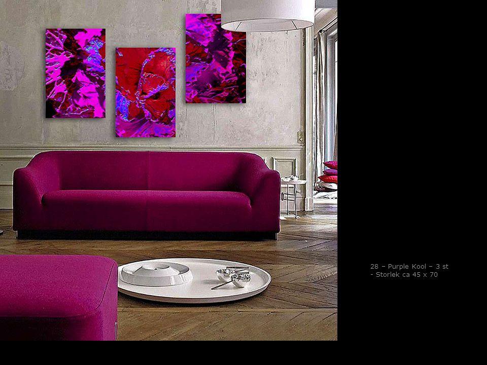 28 – Purple Kool – 3 st - Storlek ca 45 x 70