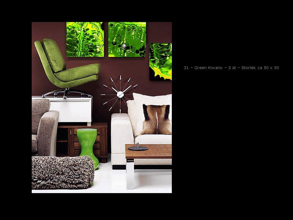31 – Green Kiwano – 3 st – Storlek ca 50 x 50