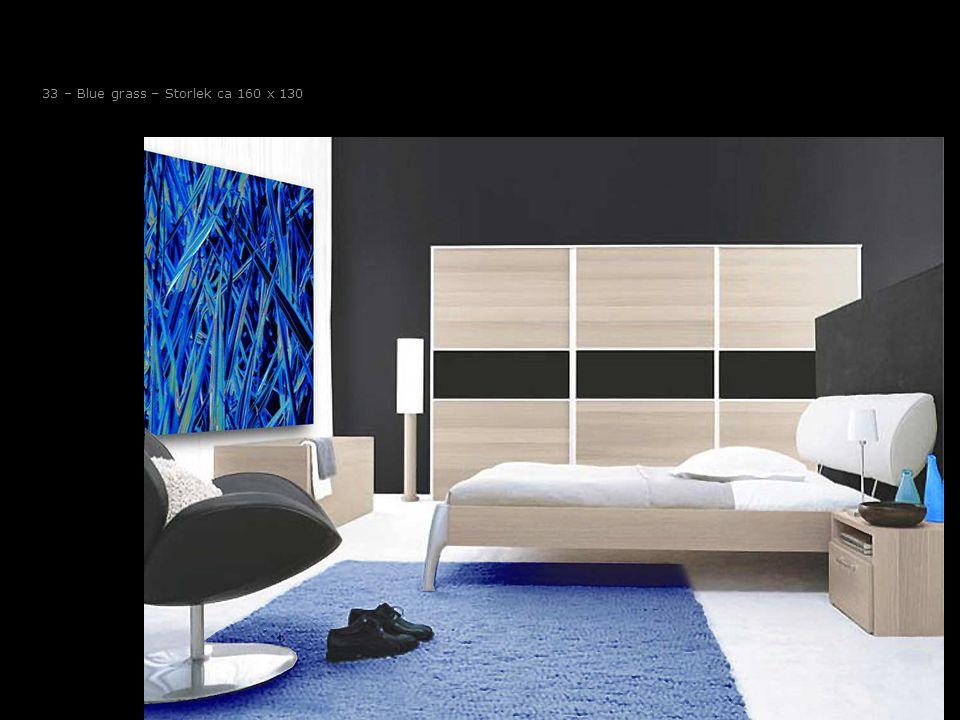 33 – Blue grass – Storlek ca 160 x 130
