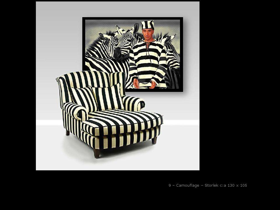 9 – Camouflage – Storlek c:a 130 x 105