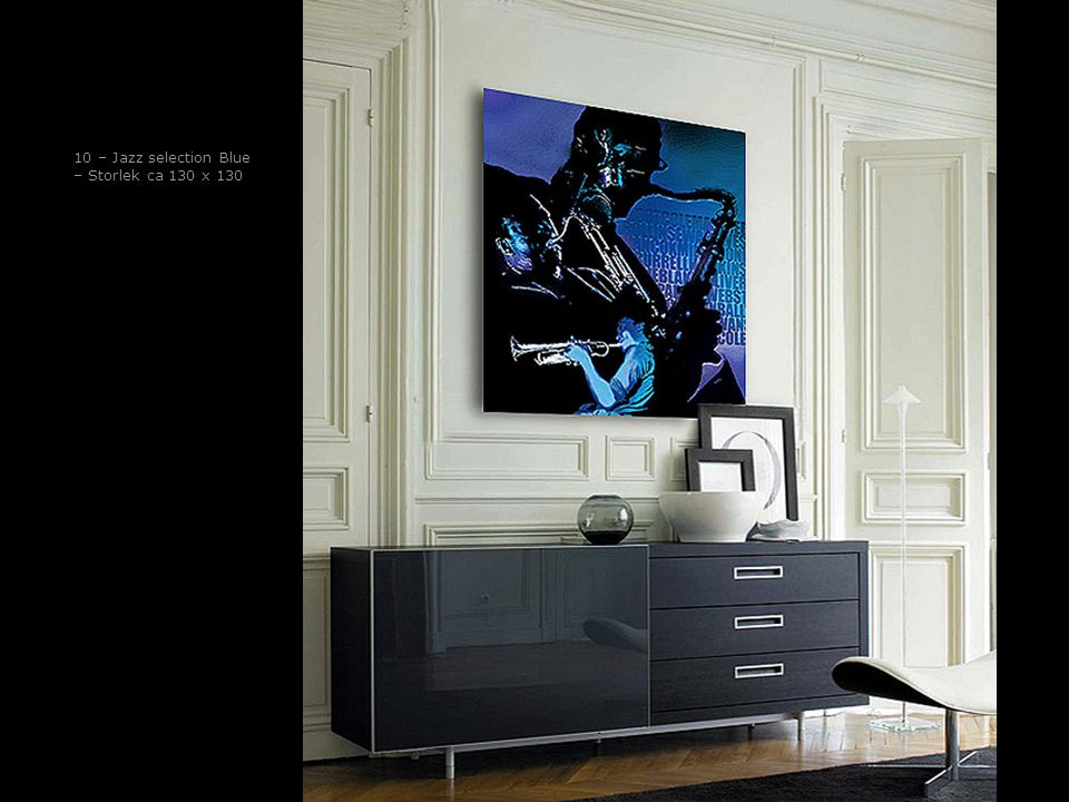 10 – Jazz selection Blue – Storlek ca 130 x 130