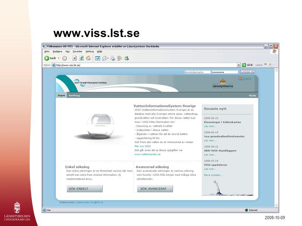 2008-10-09 www.viss.lst.se