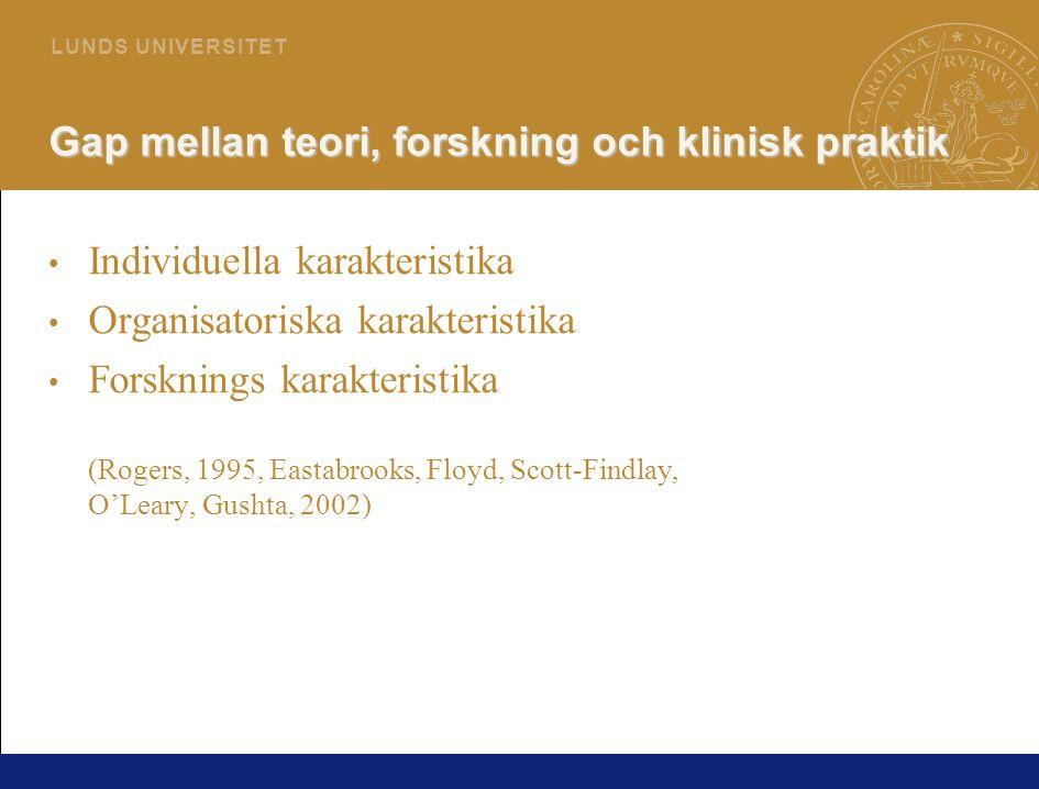 4 L U N D S U N I V E R S I T E T Kunskap Veta att Veta hur (Polyani 1958, Kuhn 1970)