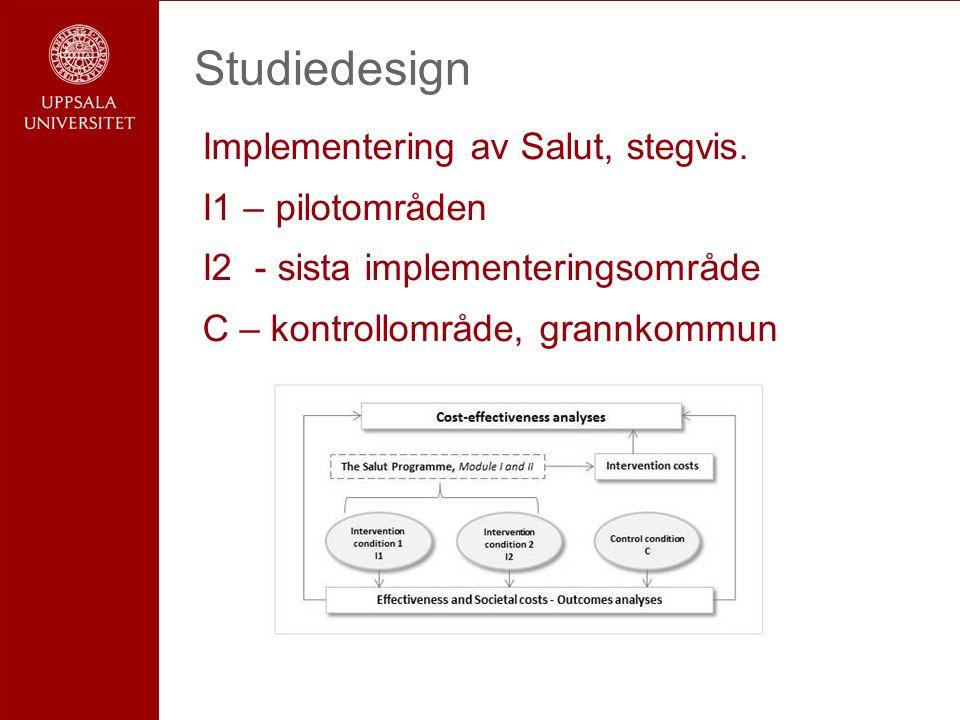Studiedesign Implementering av Salut, stegvis.
