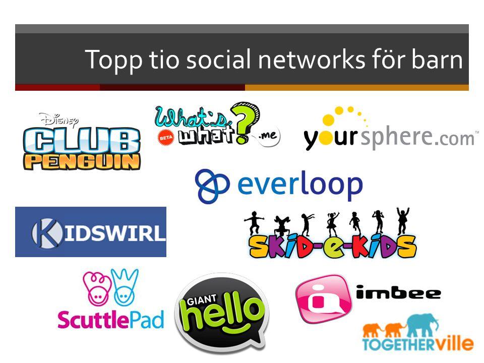 Topp tio social networks för barn