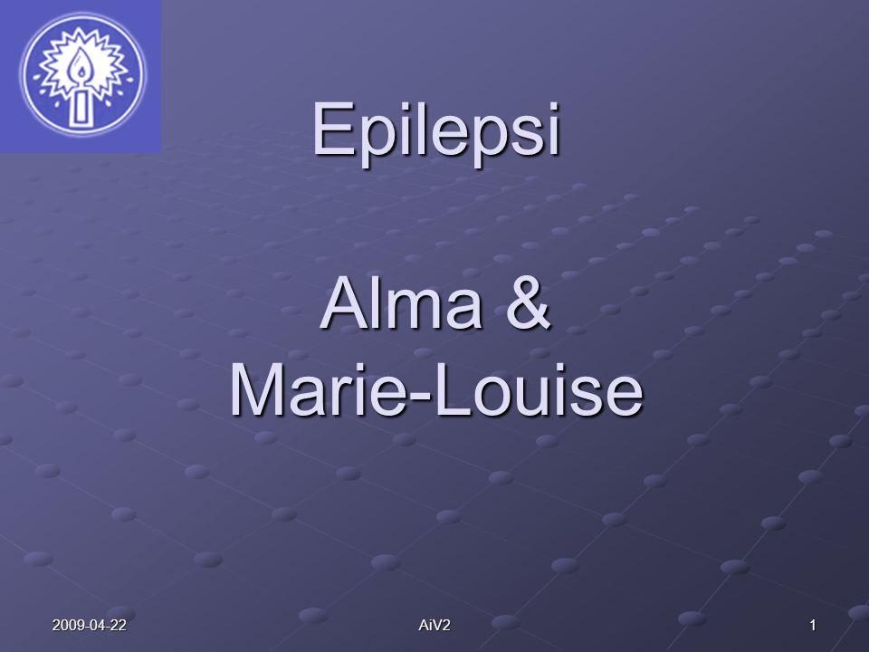 122009-04-22AiV2 Komplikationer Psykiskt påfrestande Att bli drabbad av epilepsi innebär krav på omställning och stora påfrestningar för den som får sjukdomen