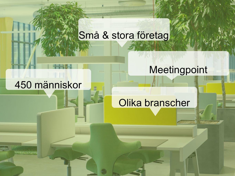 450 människor Små & stora företag Olika branscher Meetingpoint