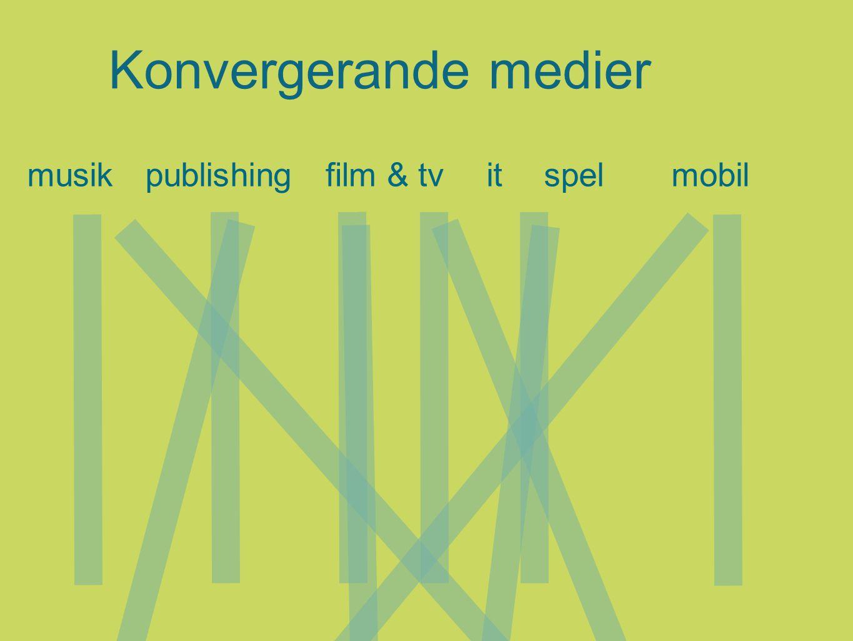 Konvergerande medier musikpublishingspelmobilfilm & tvit