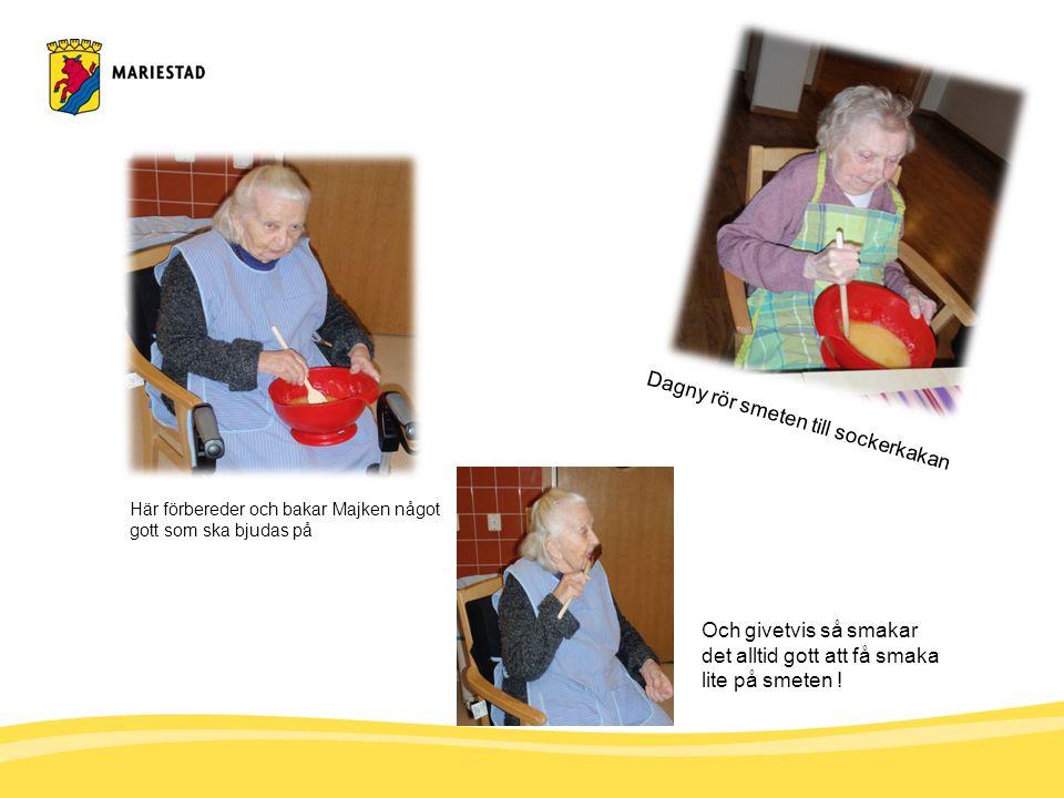 En bild från Eivors kaffekalas Och även efter kaffestunden finns det mycket roligt att pratas om, Margareta.