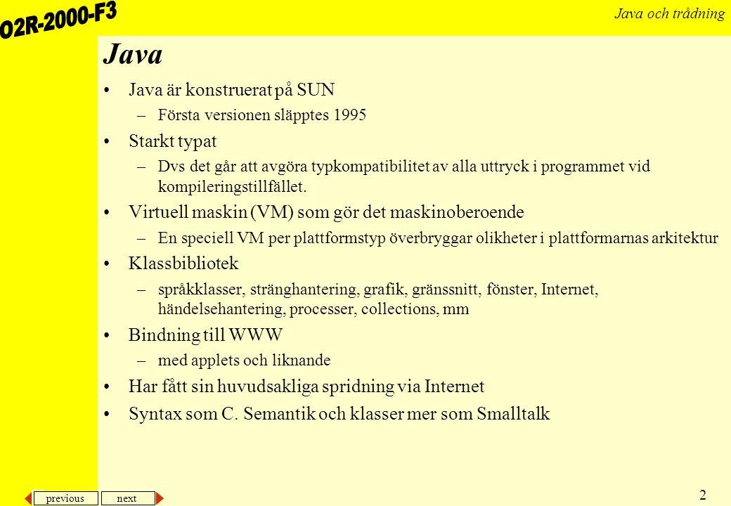 previous next 13 Java och trådning...