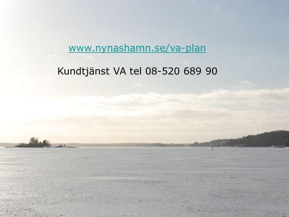Lindholmens fiskevårds- och tomtägarförening 2014-04-13 14 www.nynashamn.se/va-plan Kundtjänst VA tel 08-520 689 90