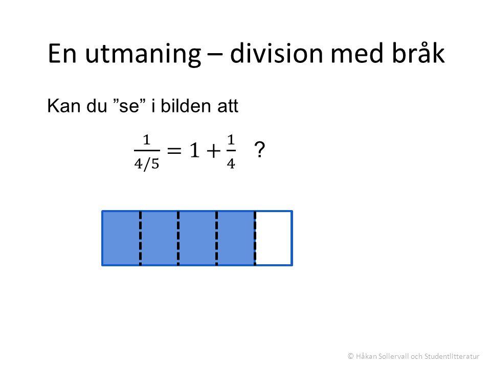 En utmaning – division med bråk © Håkan Sollervall och Studentlitteratur