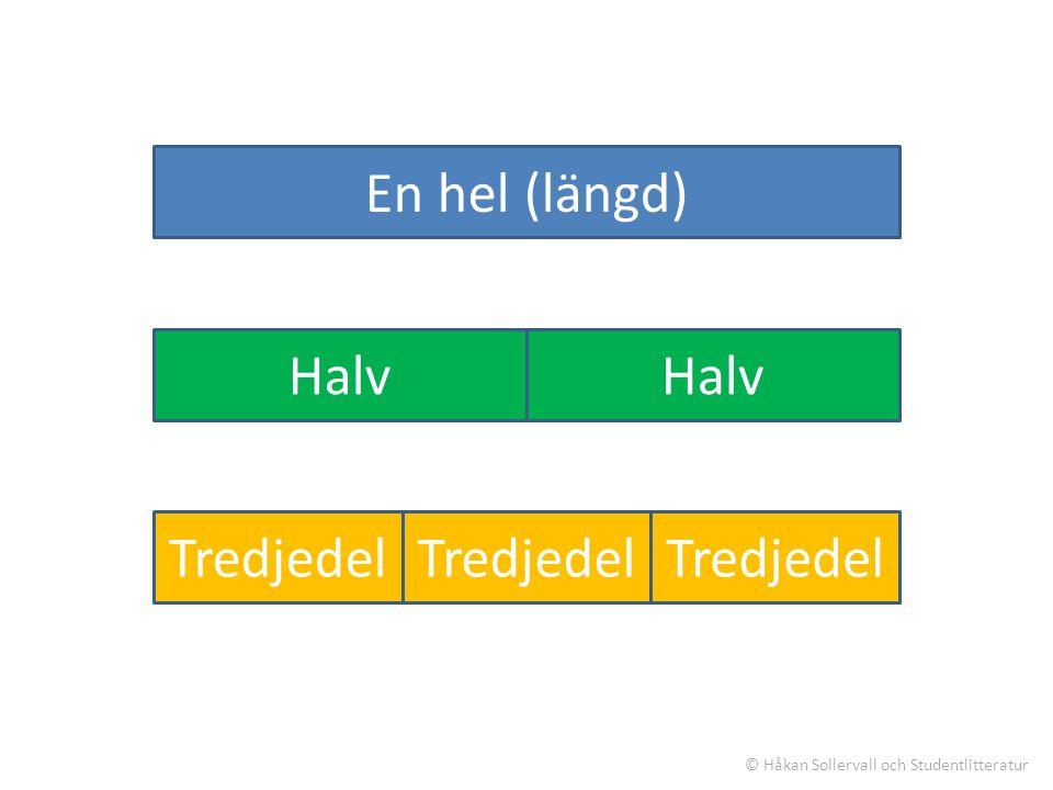 En längdenhet HalvTredjedel En halv plus en tredjedel = ? © Håkan Sollervall och Studentlitteratur