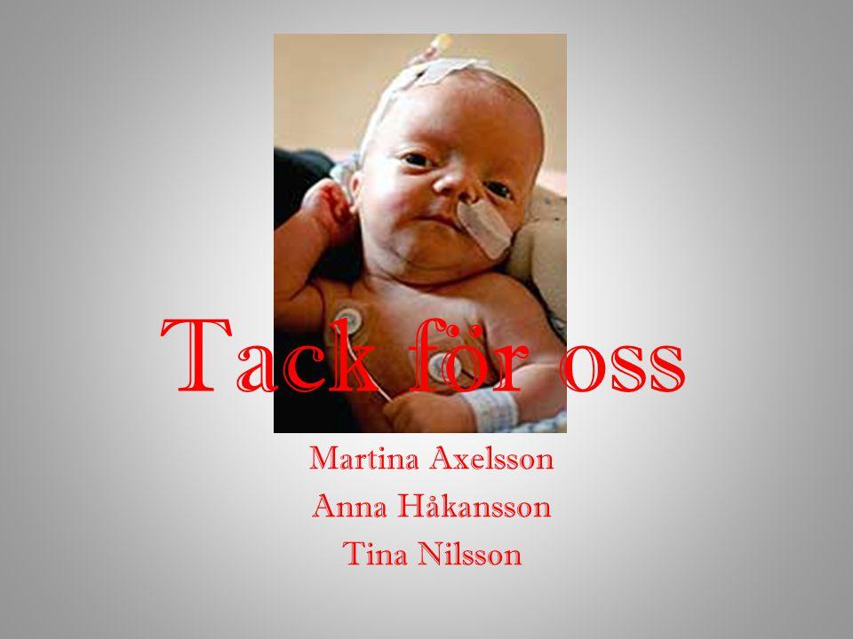 Tack för oss Martina Axelsson Anna Håkansson Tina Nilsson