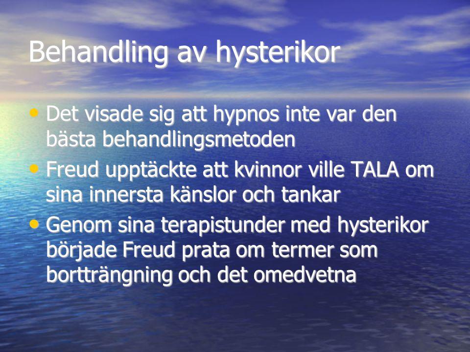 Behandling av hysterikor Det visade sig att hypnos inte var den bästa behandlingsmetoden Det visade sig att hypnos inte var den bästa behandlingsmetod