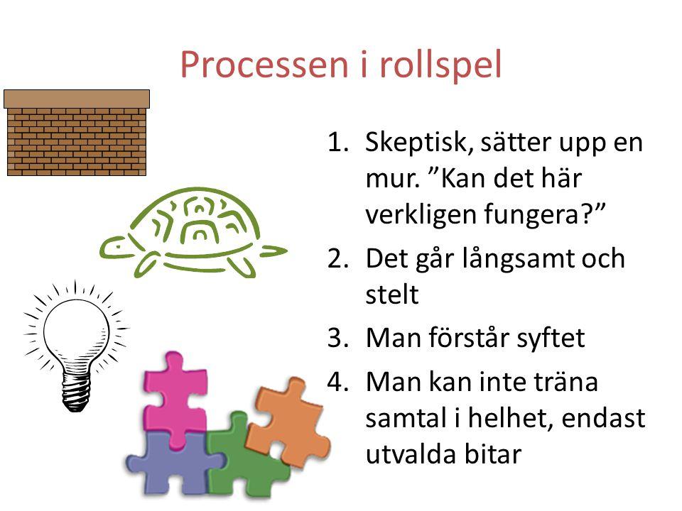 Processen i rollspel 1.Skeptisk, sätter upp en mur.