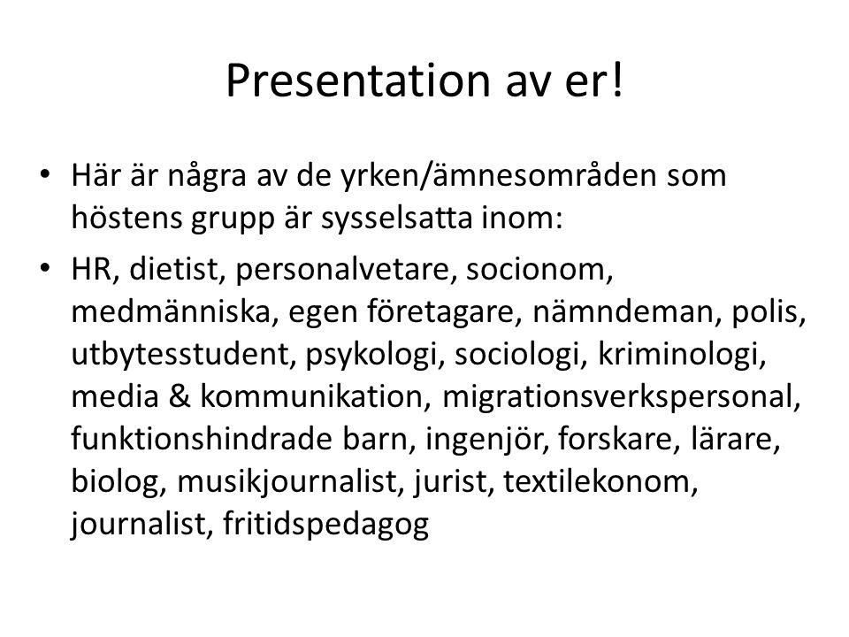 Presentation av er.
