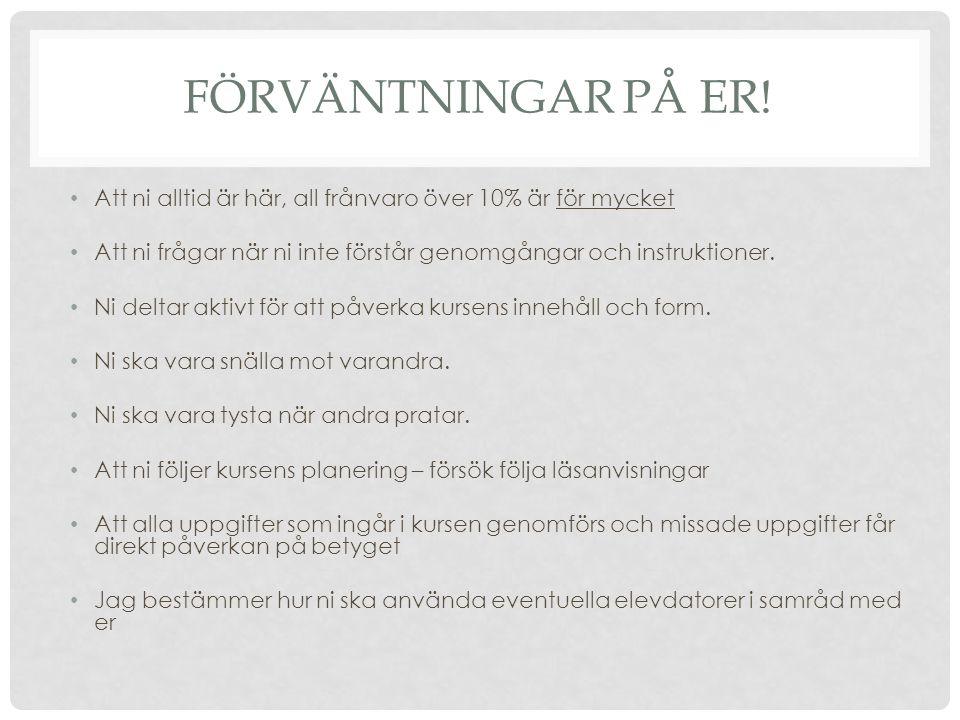 UNDERVISNINGEN It´s learning och betygsbok Magister Larsson http://henkekatte.wordpress.com/http://henkekatte.wordpress.com/ Mål och planering Förvänt