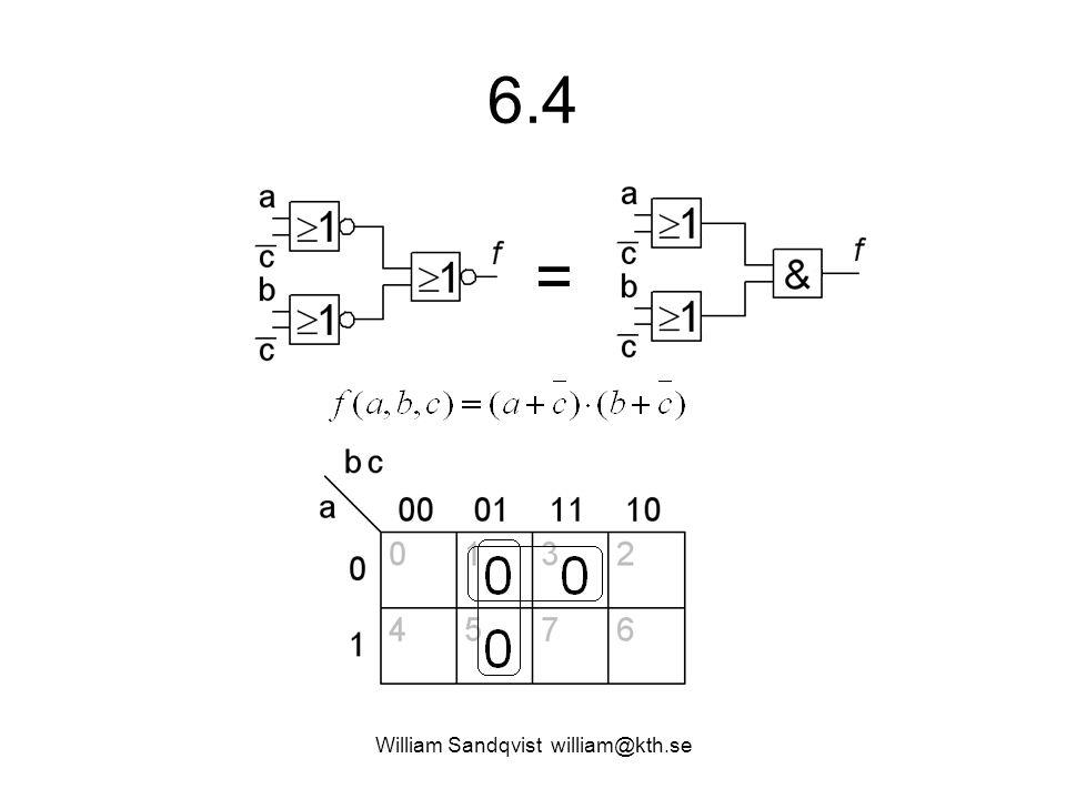 6.4 William Sandqvist william@kth.se =