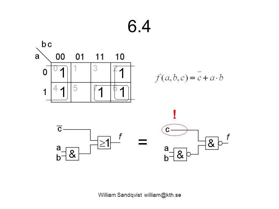 6.4 William Sandqvist william@kth.se = !