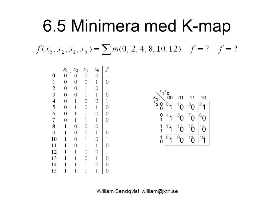 6.5 Minimera med K-map William Sandqvist william@kth.se