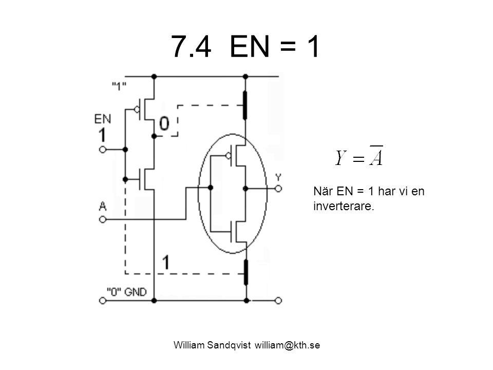 7.4 EN = 1 William Sandqvist william@kth.se När EN = 1 har vi en inverterare.
