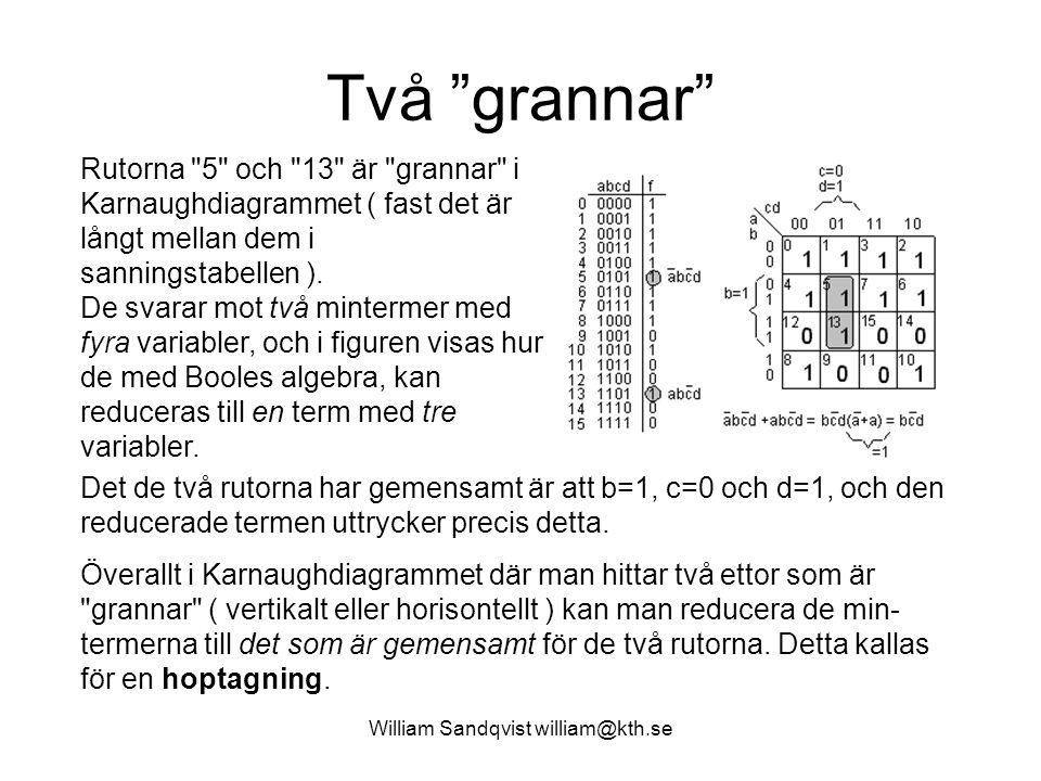 8.2 William Sandqvist william@kth.se Endast in-koderna X 0, 1, 3, 7, 15 kan förekomma.