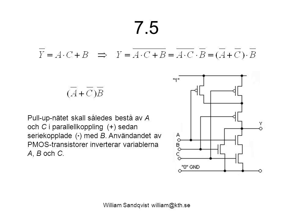7.5 William Sandqvist william@kth.se Pull-up-nätet skall således bestå av A och C i parallellkoppling (+) sedan seriekopplade (  ) med B.