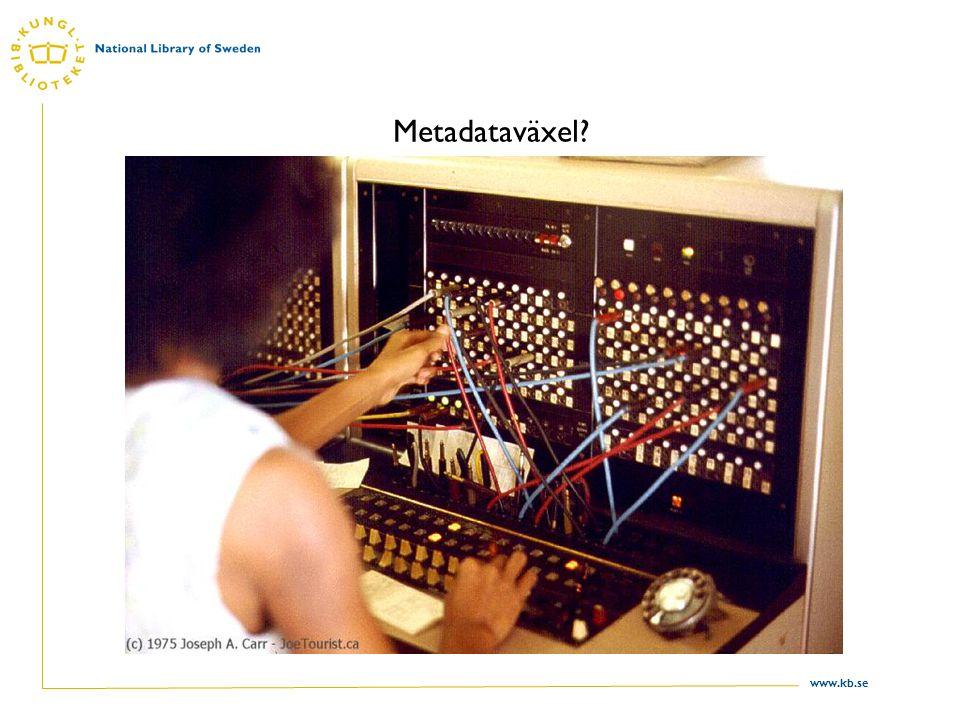 www.kb.se Poster till LIBRIS från: Beståndsuppgifter, ca 10 folkbibliotek Dawson Utbildningsradion, mediebiblioteket Kungl.