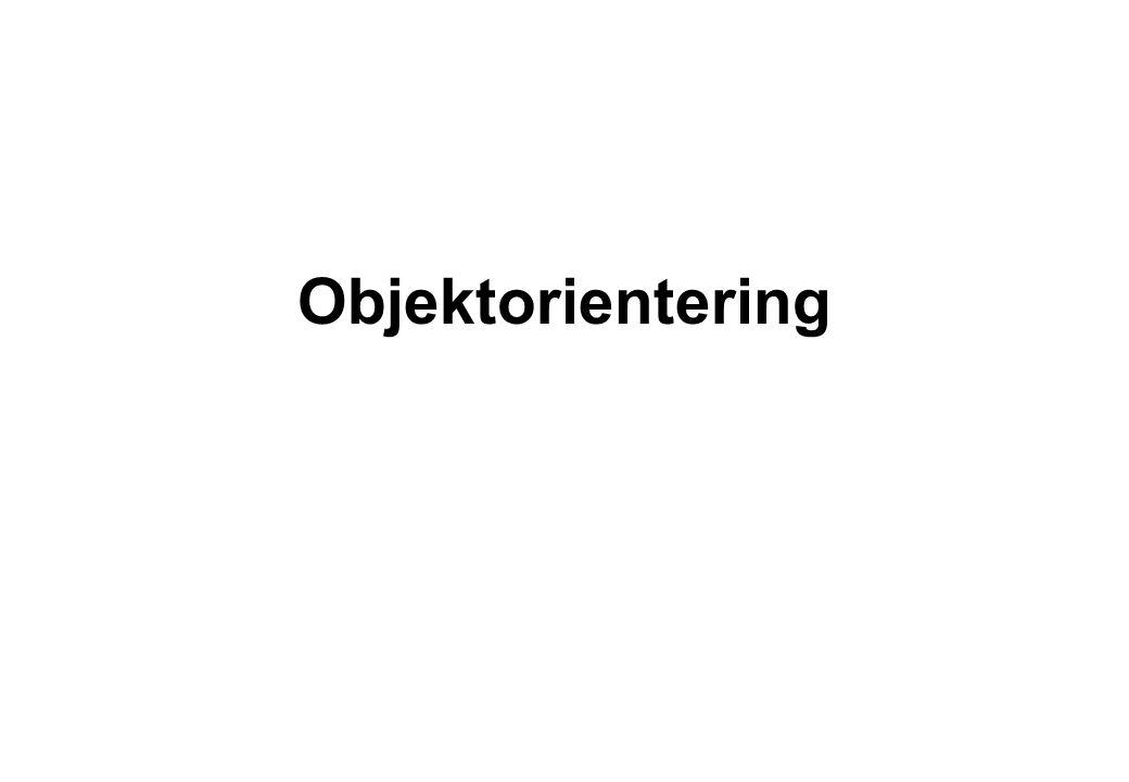 Objektorientering