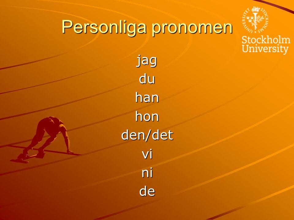 Personliga pronomen jagduhanhonden/detvinide