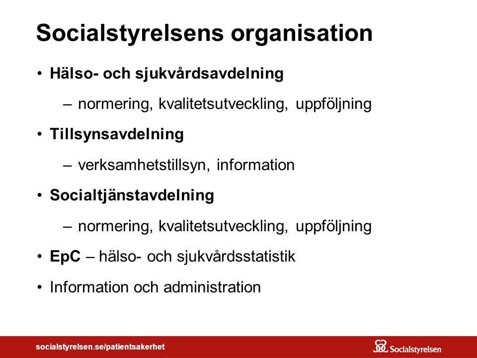 socialstyrelsen.se/patientsakerhet På väg mot en säker vård… Känner du igen den omogna organisationen?