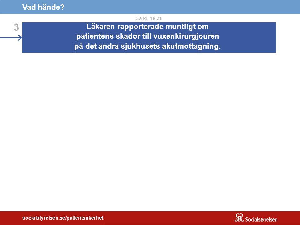socialstyrelsen.se/patientsakerhet Vad hände.