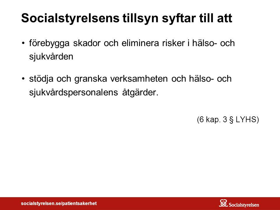socialstyrelsen.se/patientsakerhet Fixing the Problem