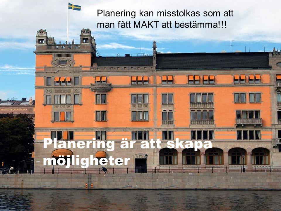 2009.05.13/L.Ring Planering är att skapa möjligheter Planering kan misstolkas som att man fått MAKT att bestämma!!!