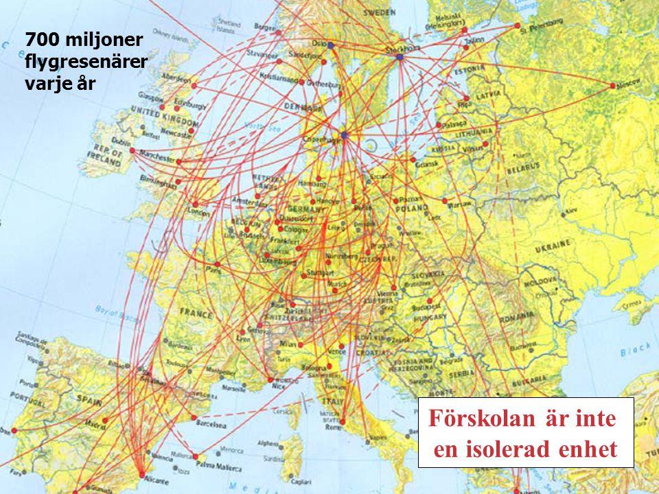 700 miljoner flygresenärer varje år Förskolan är inte en isolerad enhet