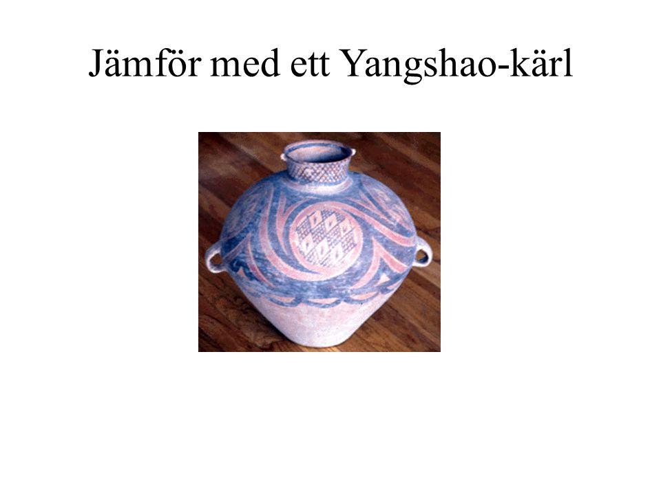 Jämför med ett Yangshao-kärl