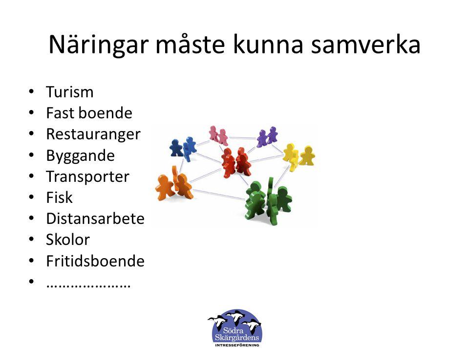 Allt är inte persontransporter Förutom turistrelaterade verksamheter förekommer exempelvis byggverksamhet i stor omfattning.