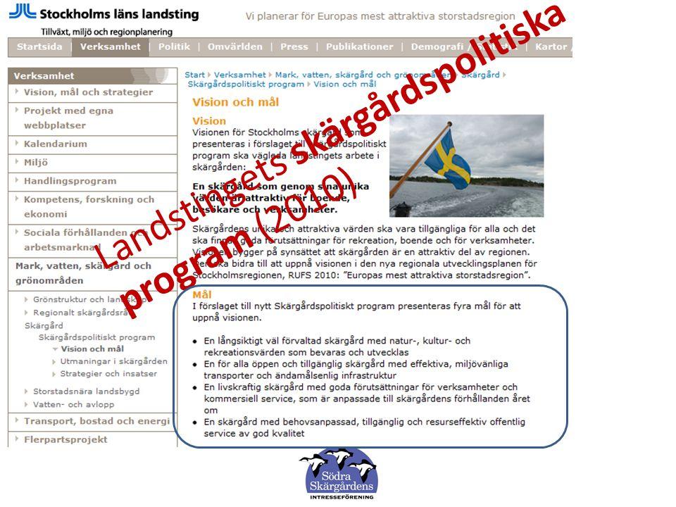 Landstingets skärgårdspolitiska program (2010)