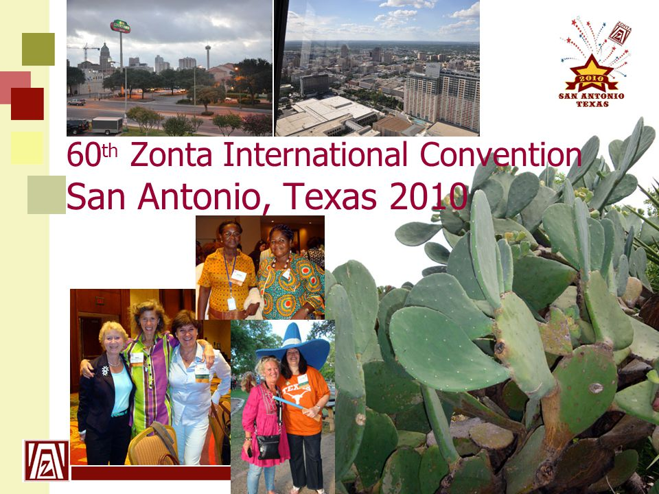 www.zonta21.org 60 th Zonta International Convention San Antonio, Texas 2010