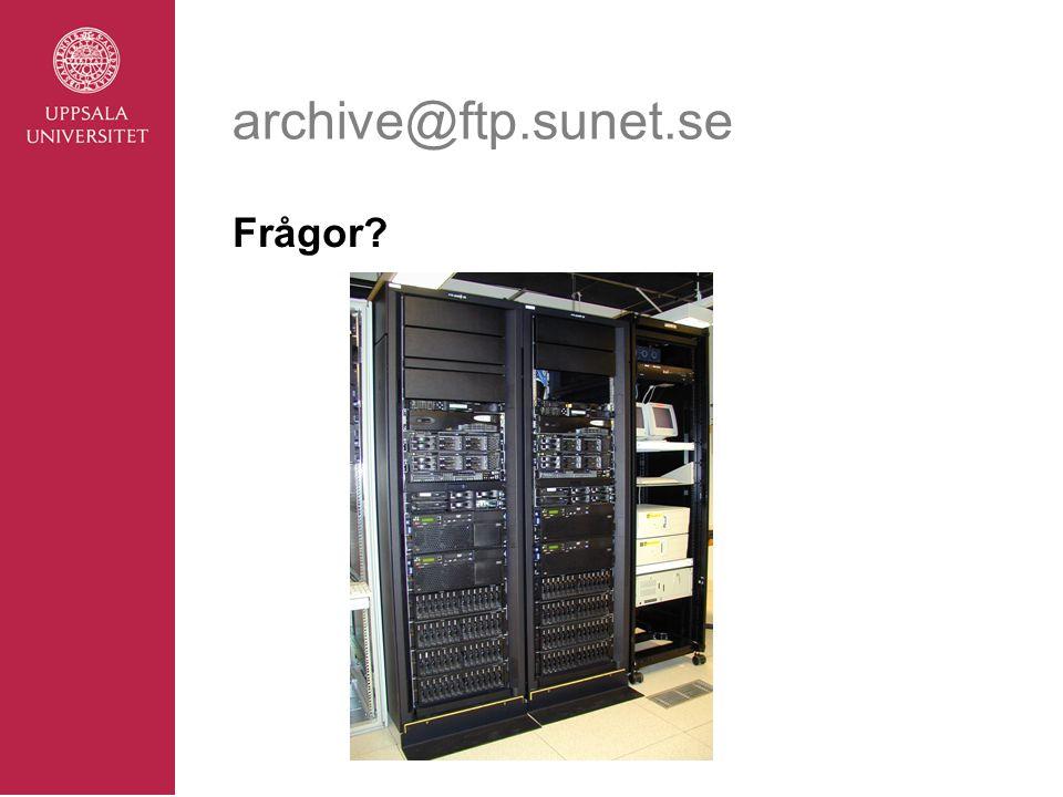 archive@ftp.sunet.se Frågor