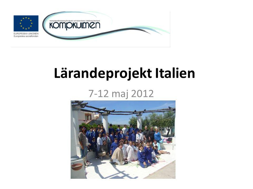 Lärandeprojekt Italien 7-12 maj 2012