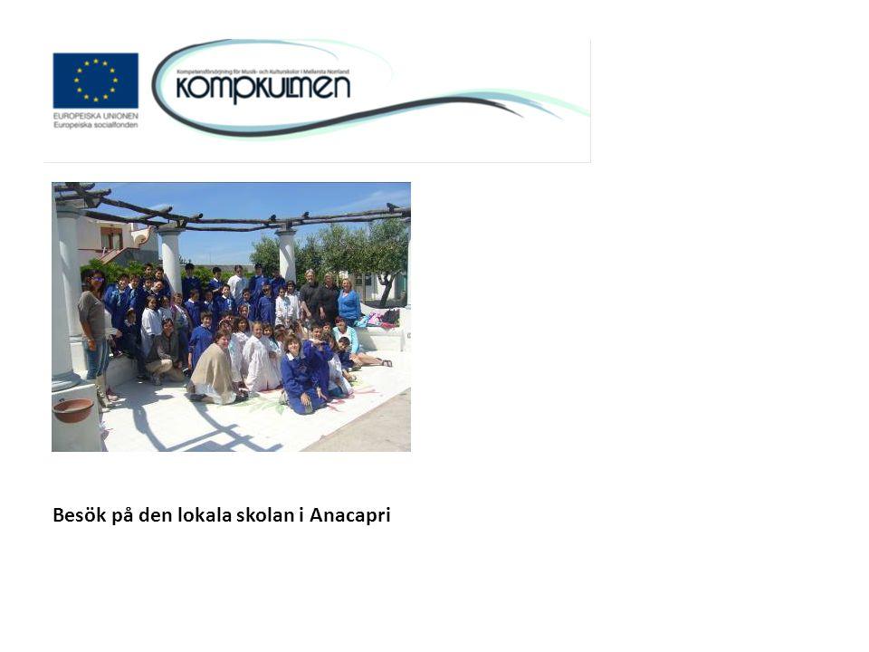 Besök på den lokala skolan i Anacapri
