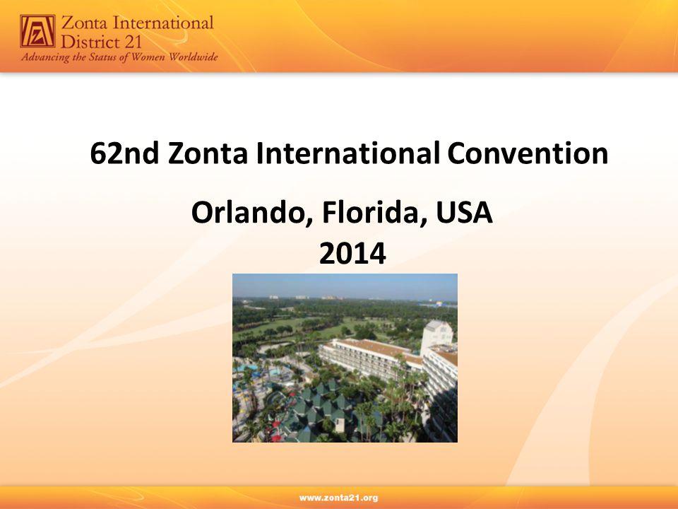 62nd Zonta International Convention Orlando, Florida, USA 2014