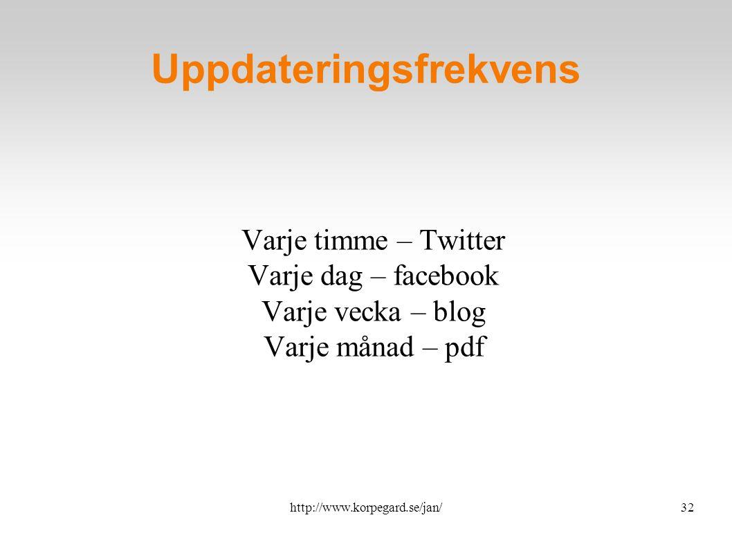 http://www.korpegard.se/jan/33 Röster om Facebook So, I am a believer in Facebook.